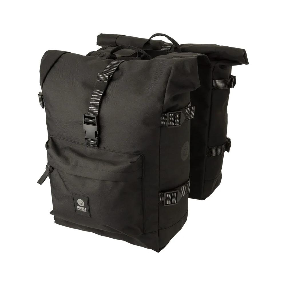 Rear Rack Urban Double Bag Roll H2O 28L Black
