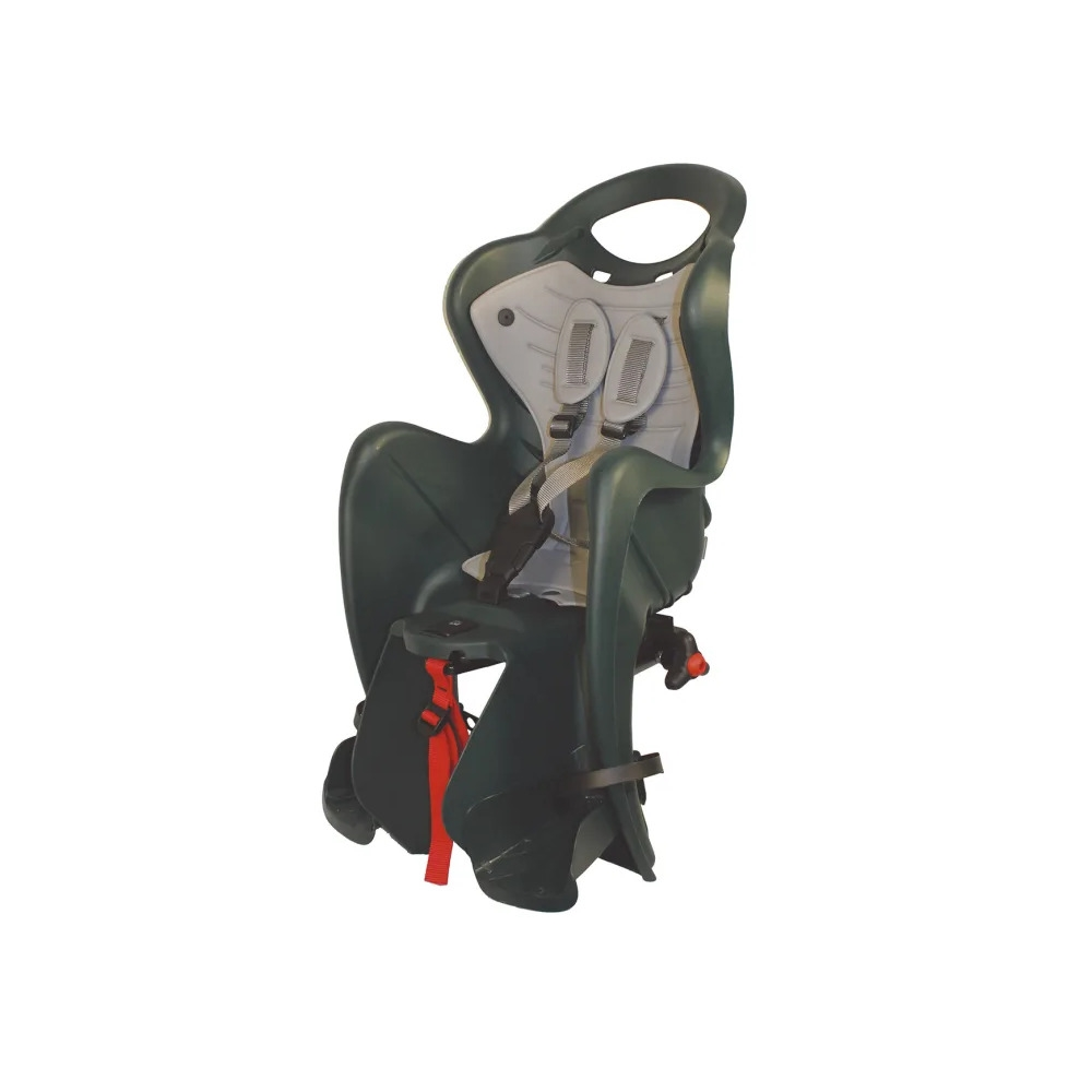 Rear Baby Seat Mr FOX Rack Mount (Clamp) 120-185mm Green