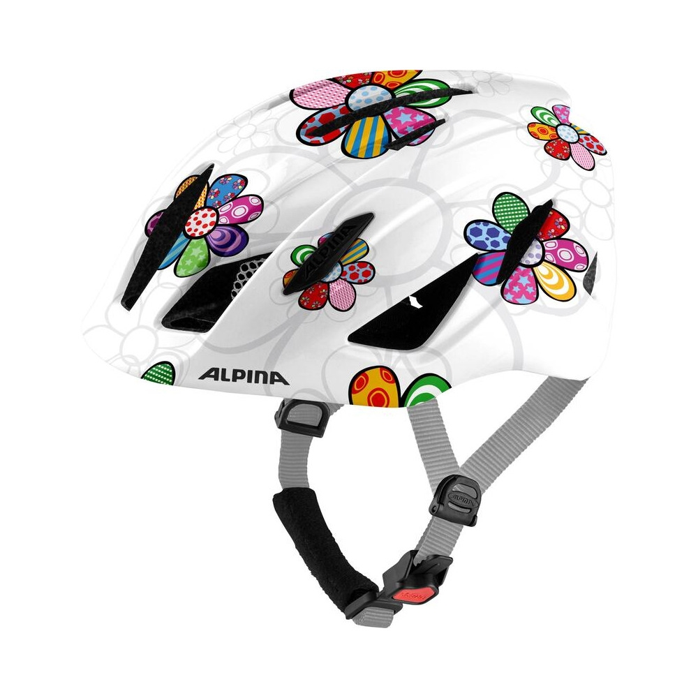 Junior Helmet Pico Pearlwhite/Flower Gloss One Size (50-55cm)