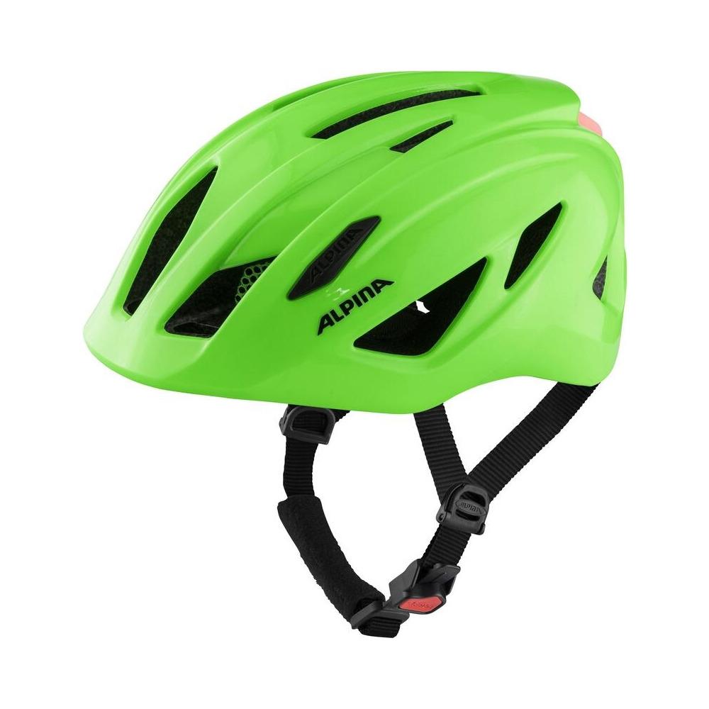 Junior Helmet Pico Flash Neon Green Gloss One Size (50-55cm)