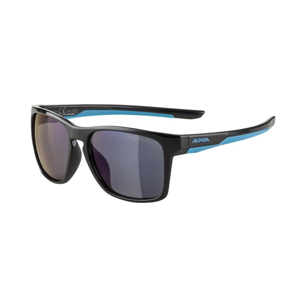 Junior Glasses Flexxy Cool Kids I Black/Cyan / Ceramic Mirror Lens Blue