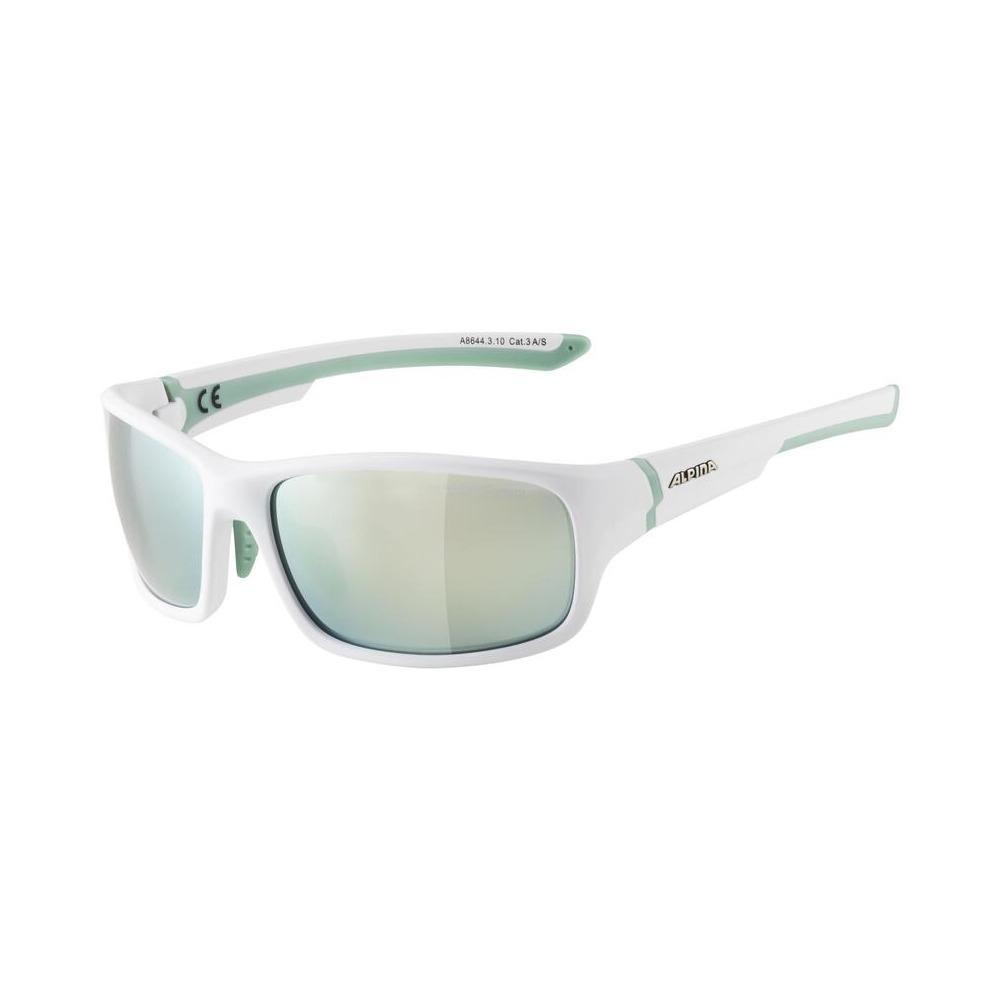 Occhiali Lyron S Bianco/Verde / Lenti Ceramic a Specchio Smeraldo