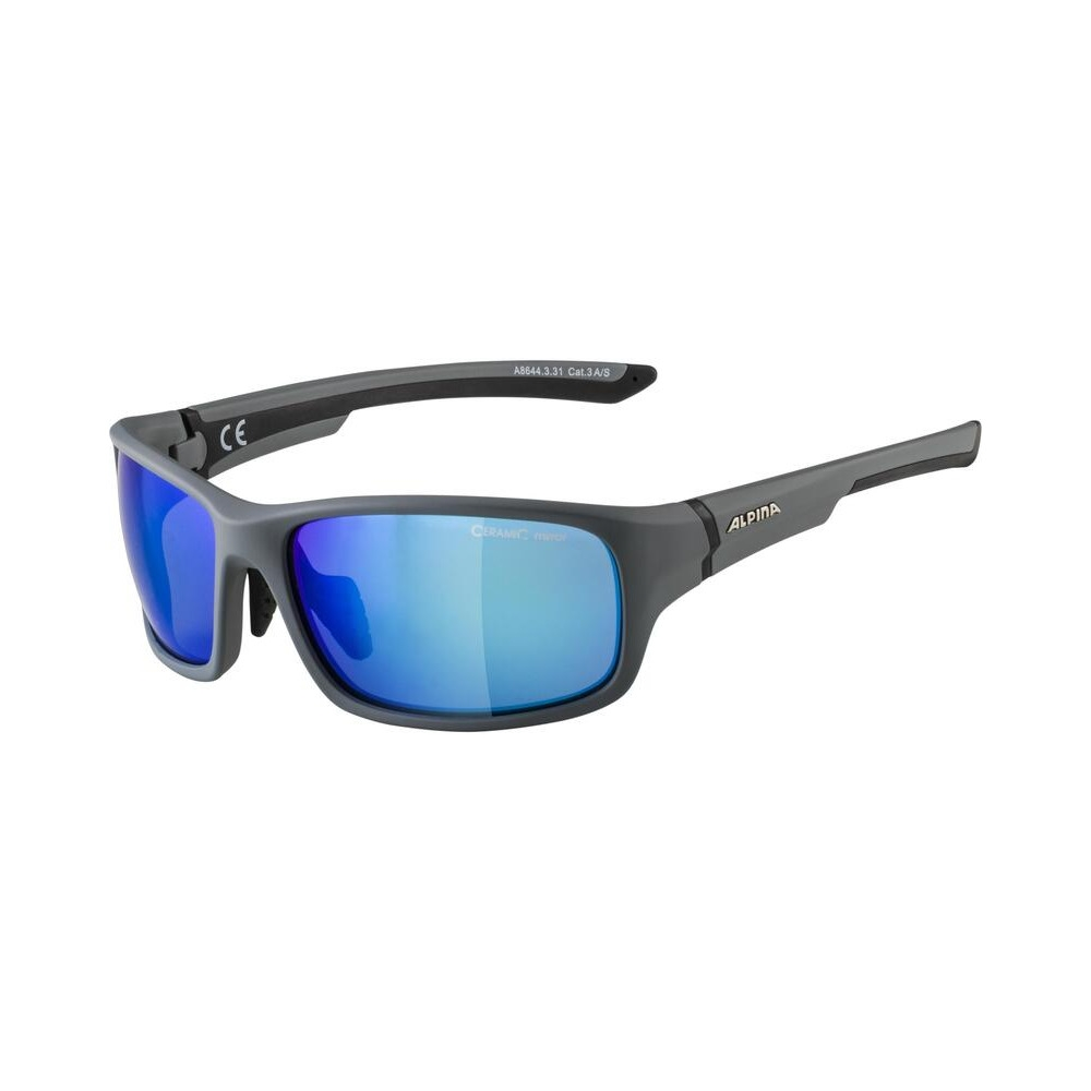 Occhiali Lyron S Nero/Grigio / Lenti Ceramic a Specchio Blu