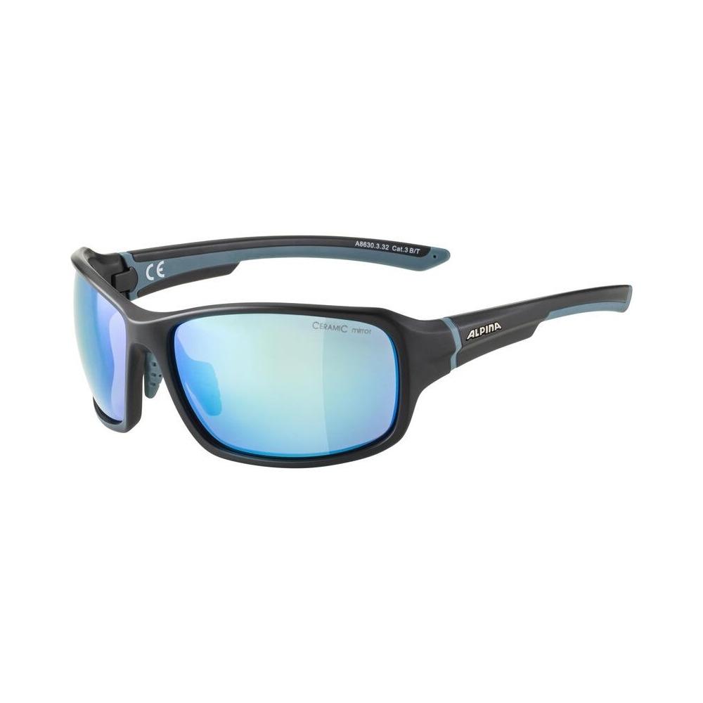 Glasses Lyron Black Matt/Blue / Ceramic Mirror Lens Blue