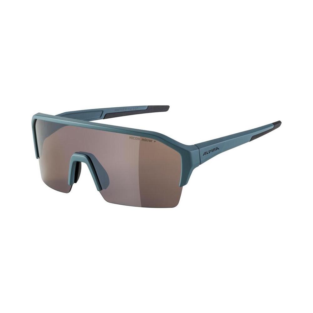 Glasses Ram Hr Q-Lite Dirt/Blue Matt / Mirror Lens Silver