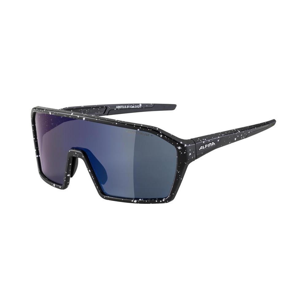 Glasses Ram Q-Lite Black / Mirror Lens Blue