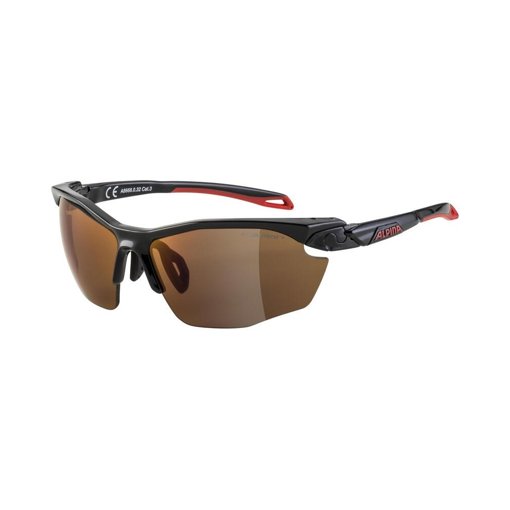 Glasses Twist Five Hr Q-Lite Black/Red / Mirror Lens Red