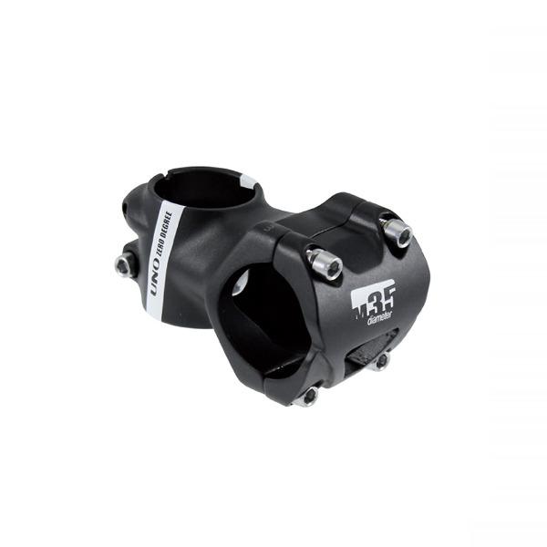Attacco Manubrio 35mm x 55mm Alluminio 4° Nero