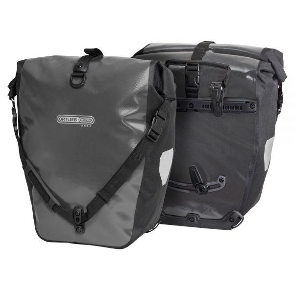 Coppia borse laterali back-roller classic F5305 ql2.1 grigio 40l