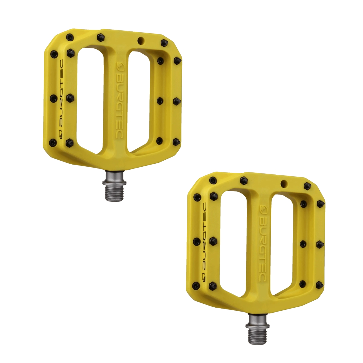 Flat Pedals Set MK4 Composite 1508 Yellow
