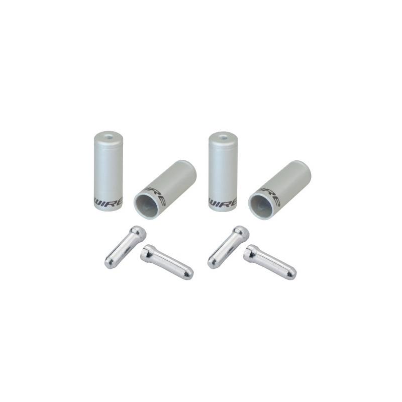 Combo Kit Capi Guaina Aperti per Cambio/Freno 4mm/5mm Silver 48pz