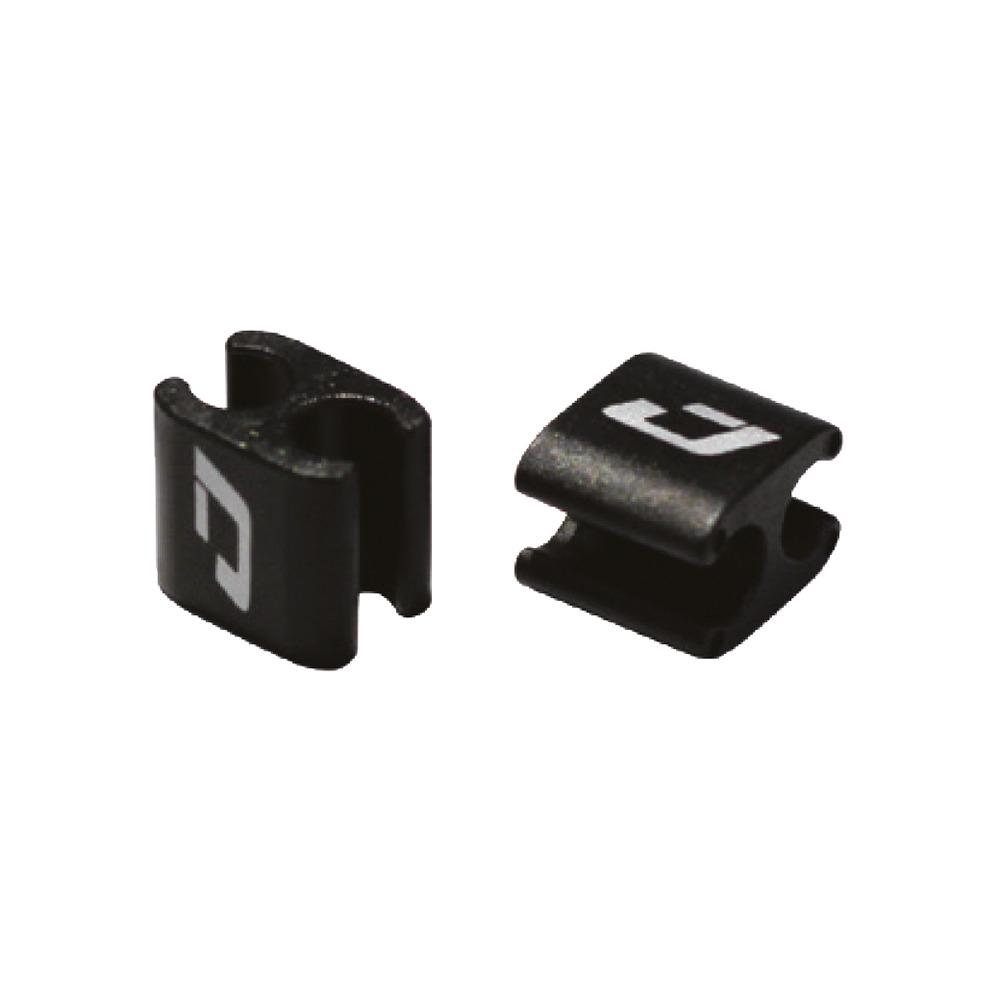 Shift and Brake Wire Hook Nylon Black 4pcs