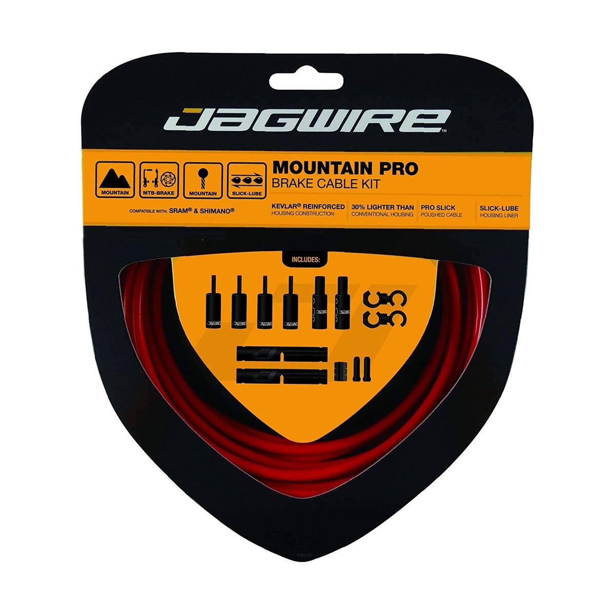 Mountain Pro Brake Cable/Housing MTB Kit Red