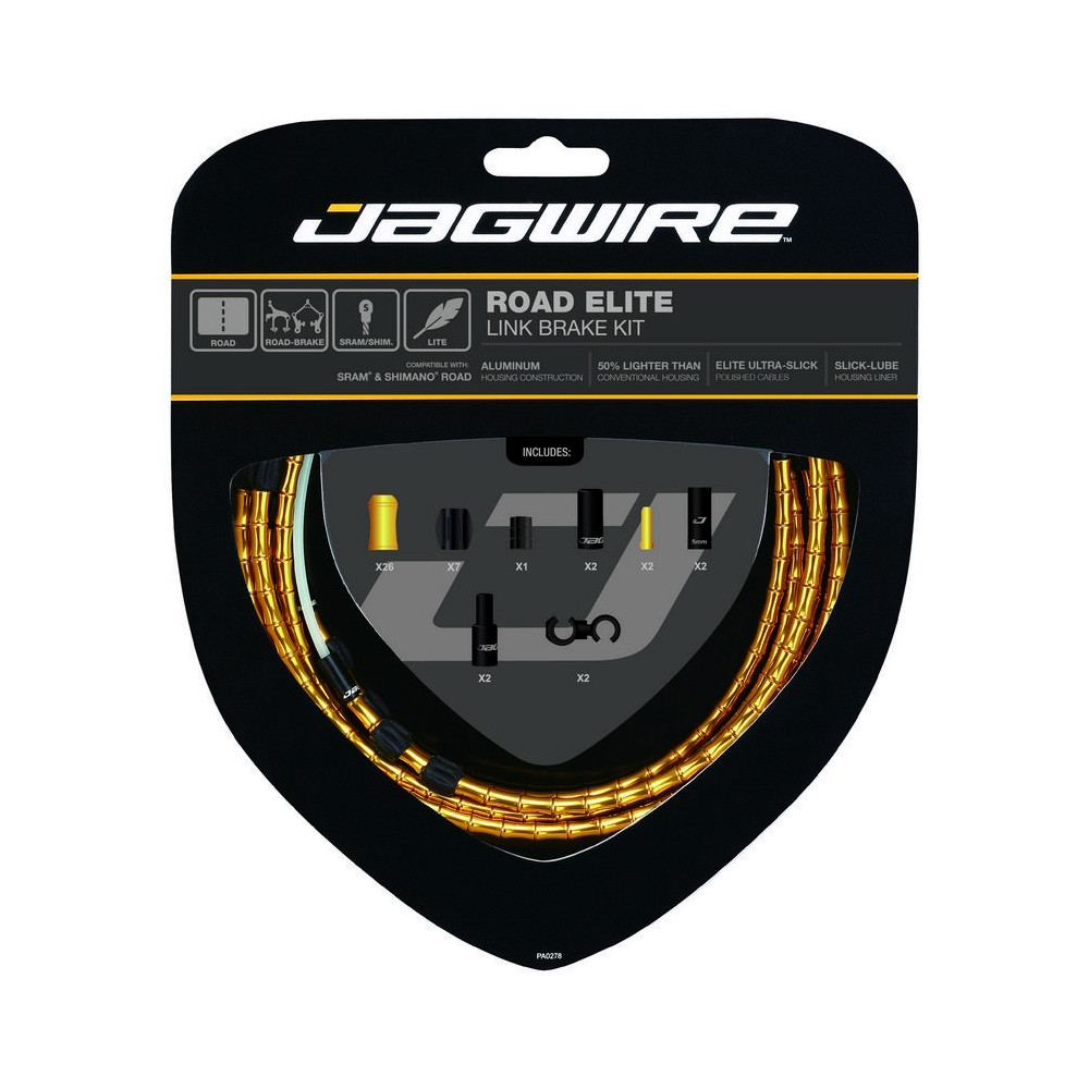 Road Elite Link Brake Cable Kit Gold