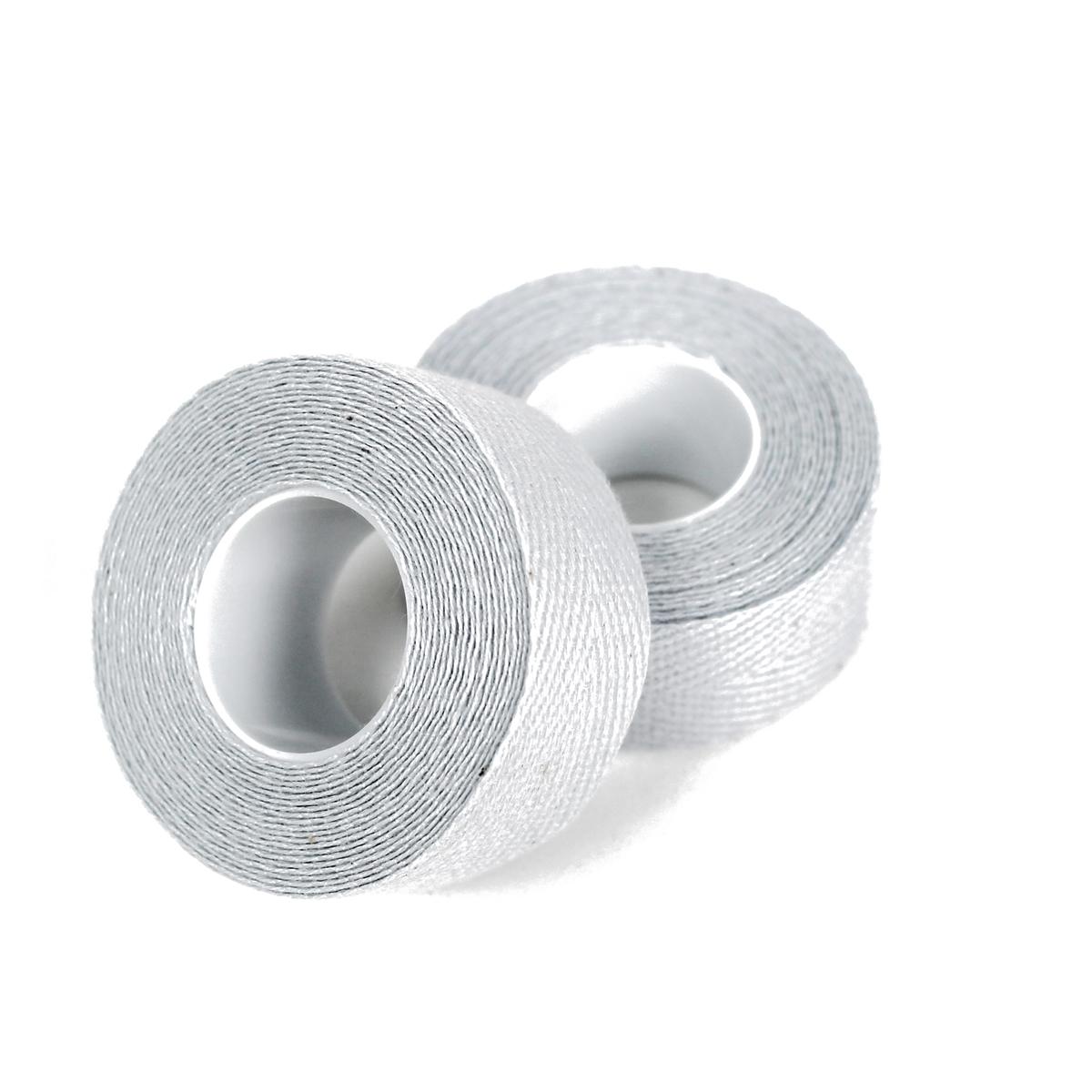 Pair cotton vintage retrò handlebar tape white