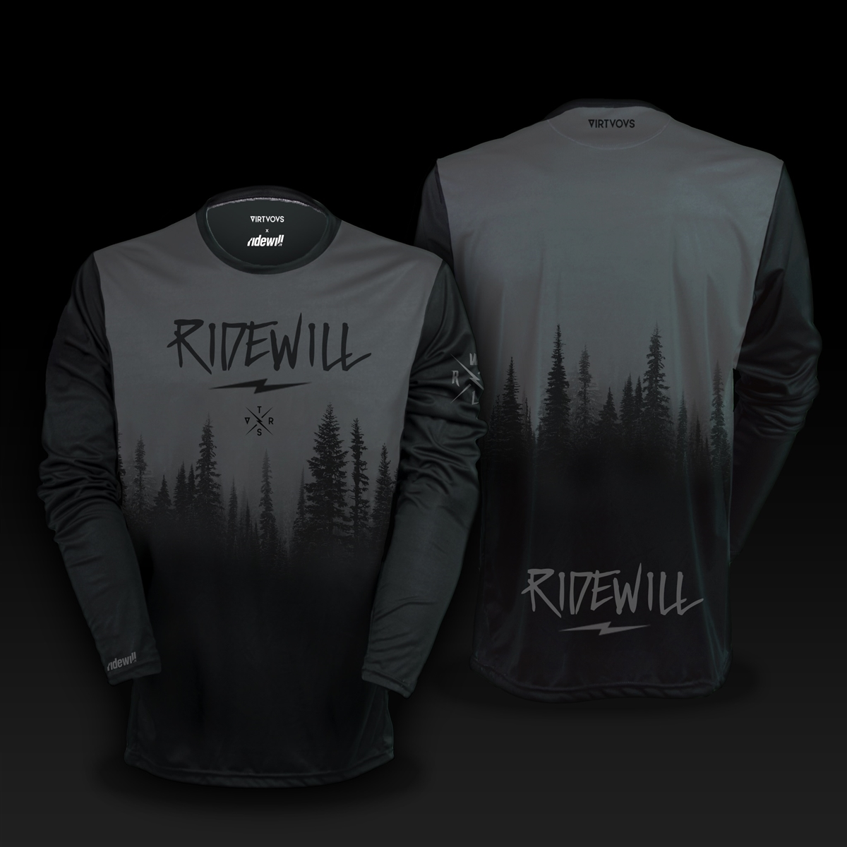 Long sleeve Jersey Firs Ridewill Limited Edition grey size S