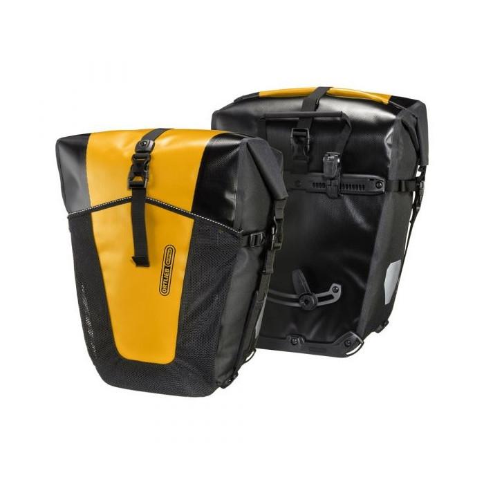 Coppia Borse Posteriori per Portapacchi Back-Roller Pro Classic 35L + 35L Nero/Giallo