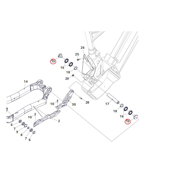 Rear Swing Arm Screw 304 22A Inox Integra / XF1 / XMF / XEF 2pcs
