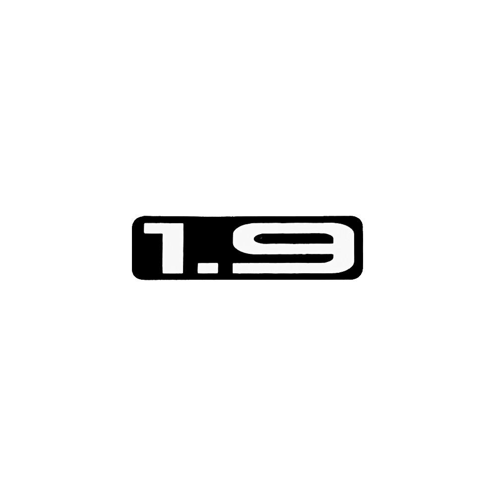 1.9 Sticker Black/White