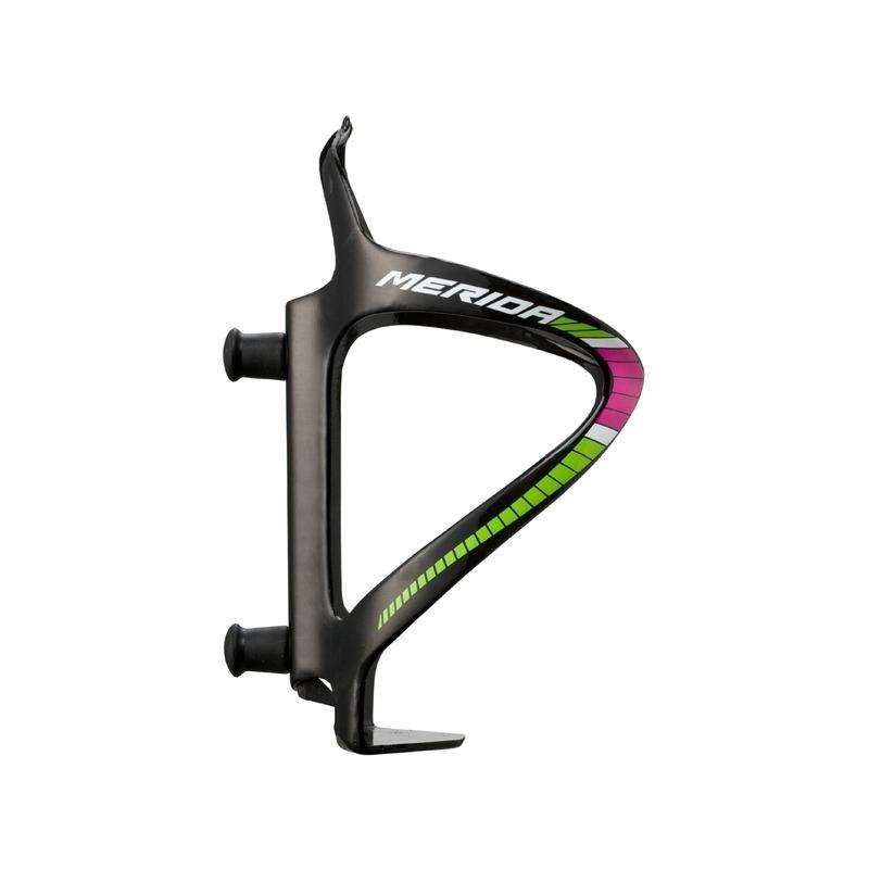 Portaborraccia in Carbonio Team Verde/Rosa