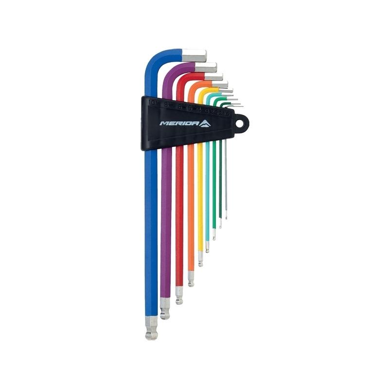 Set 9 Hex Colored Keys Ball-Head