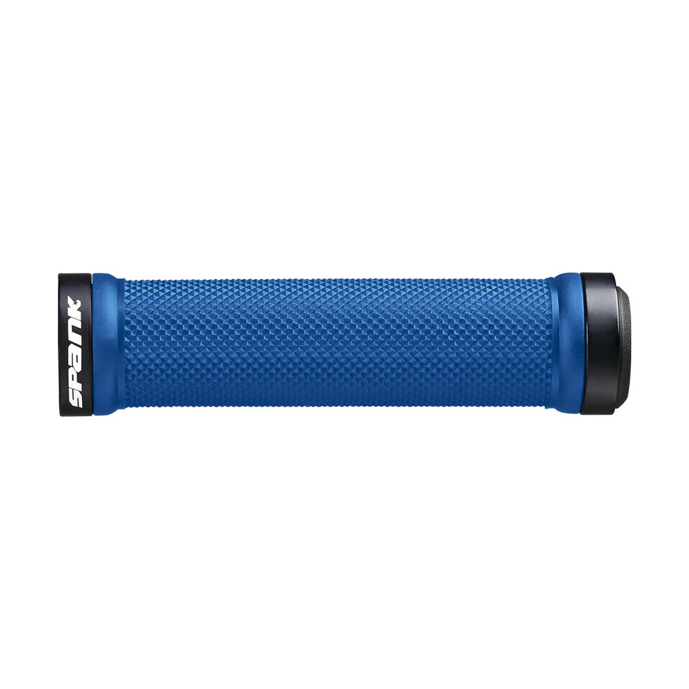 Spoon Lock-on Grips 30mm x 130mm Blue