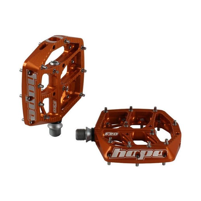 Coppia Pedali Flat F20 Arancione