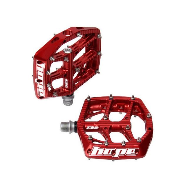 Flat Pedals Pair F20 Red