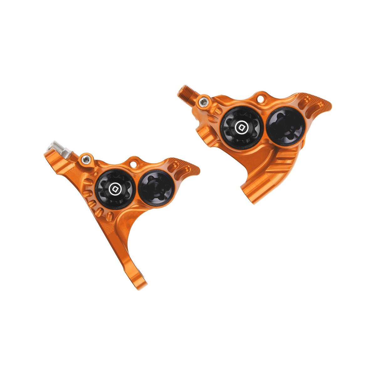 Front+Rear RX4+ Flat Mount +20mm Brake Calipers DOT Oil Orange