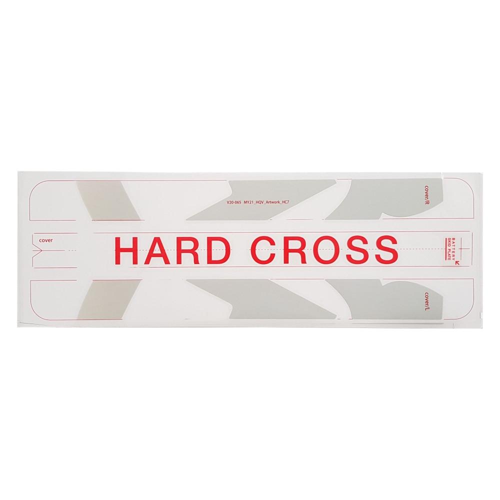 Adesivo cover batteria Hard Cross Rosso