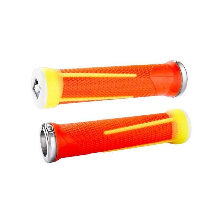 Manopole AG1 Lock-On v2.1 28mm x 135mm Arancione/Giallo