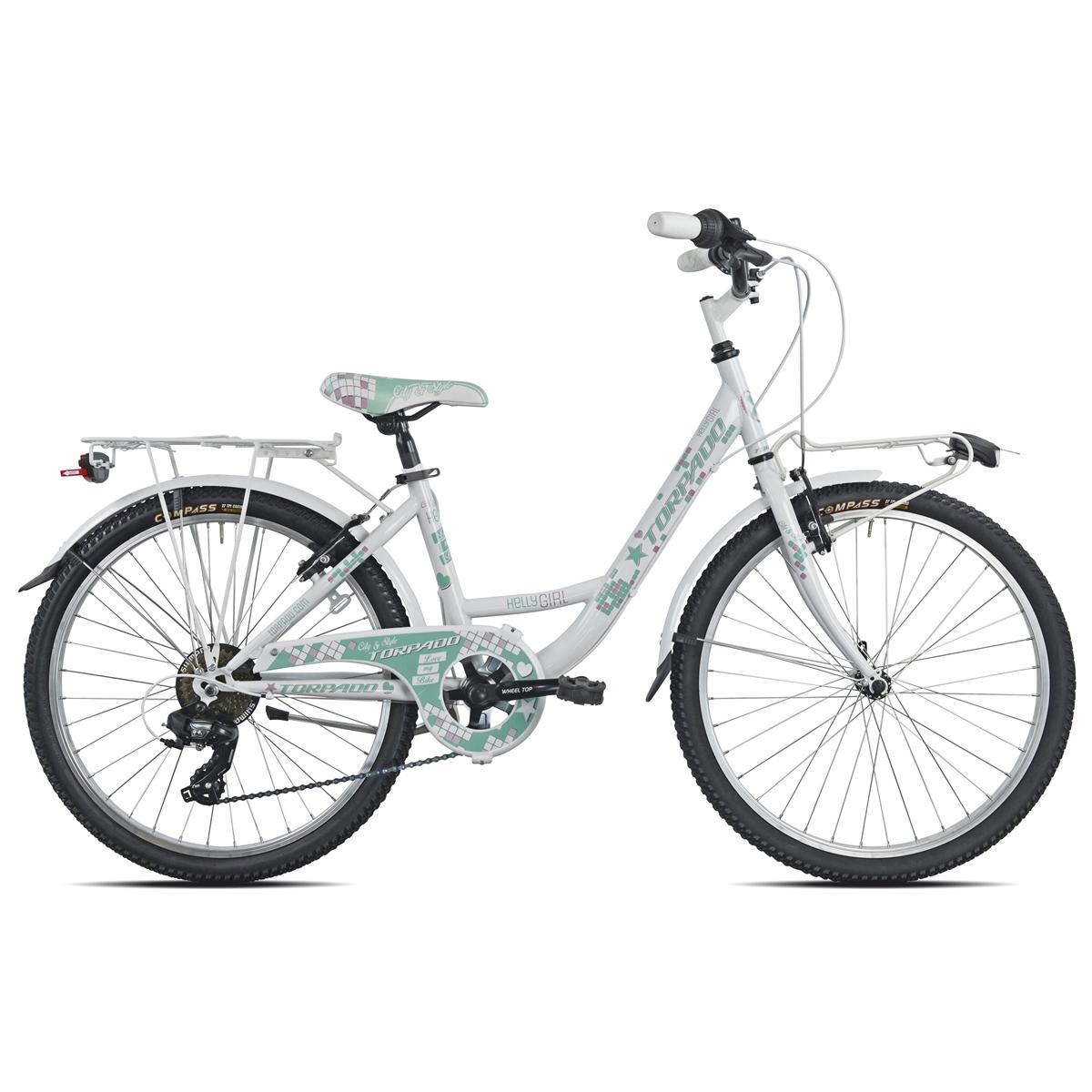 Bici Bambina T611 Kelly 24'' 6v Bianco/Verde
