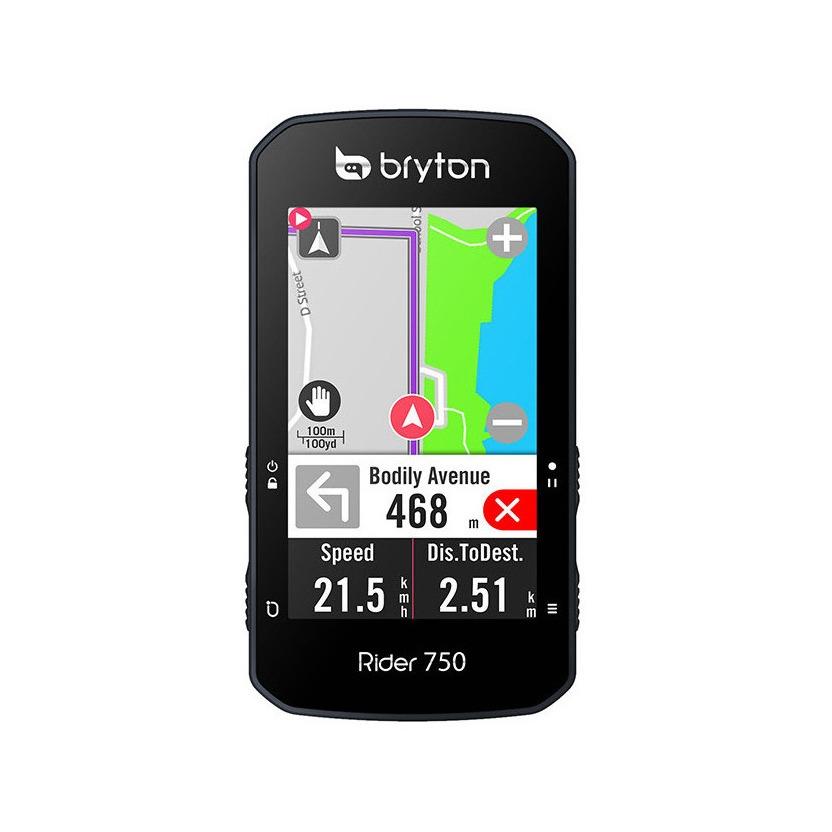 Ciclocomputer GPS Rider 750T + Sensori Cadenza/Velocità + Fascia Cardio + Supporto Frontale
