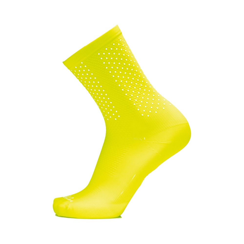 Calze Bright Socks Nido D'ape H15 Giallo Fluo Taglia S/M (35-40)