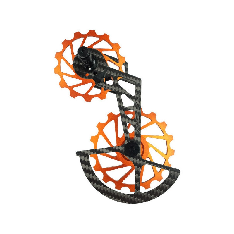 OSPW Kit Pulleys + Carbon Cage for Shimano R8000-R9150 11s Orange