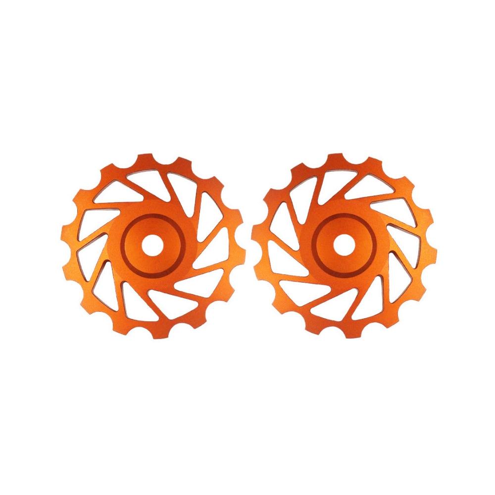 Coppia Pulegge 14D Mtb 12v Arancio
