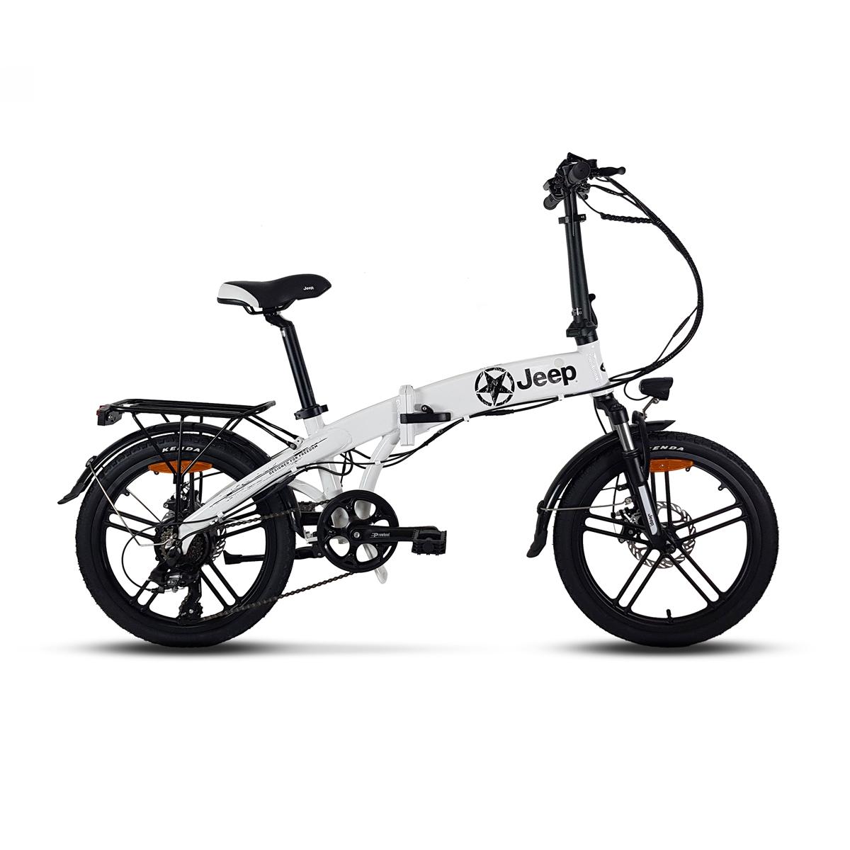 Folding E-Bike 20'' 7s 10Ah White/Black
