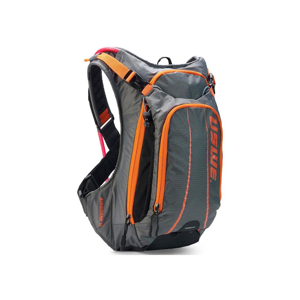 Backpack Airborne 15 15L with Hydration Bladder 3L Grey/Orange