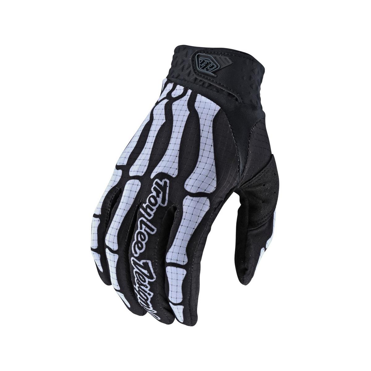 Gloves Air Skully Back/White Size S