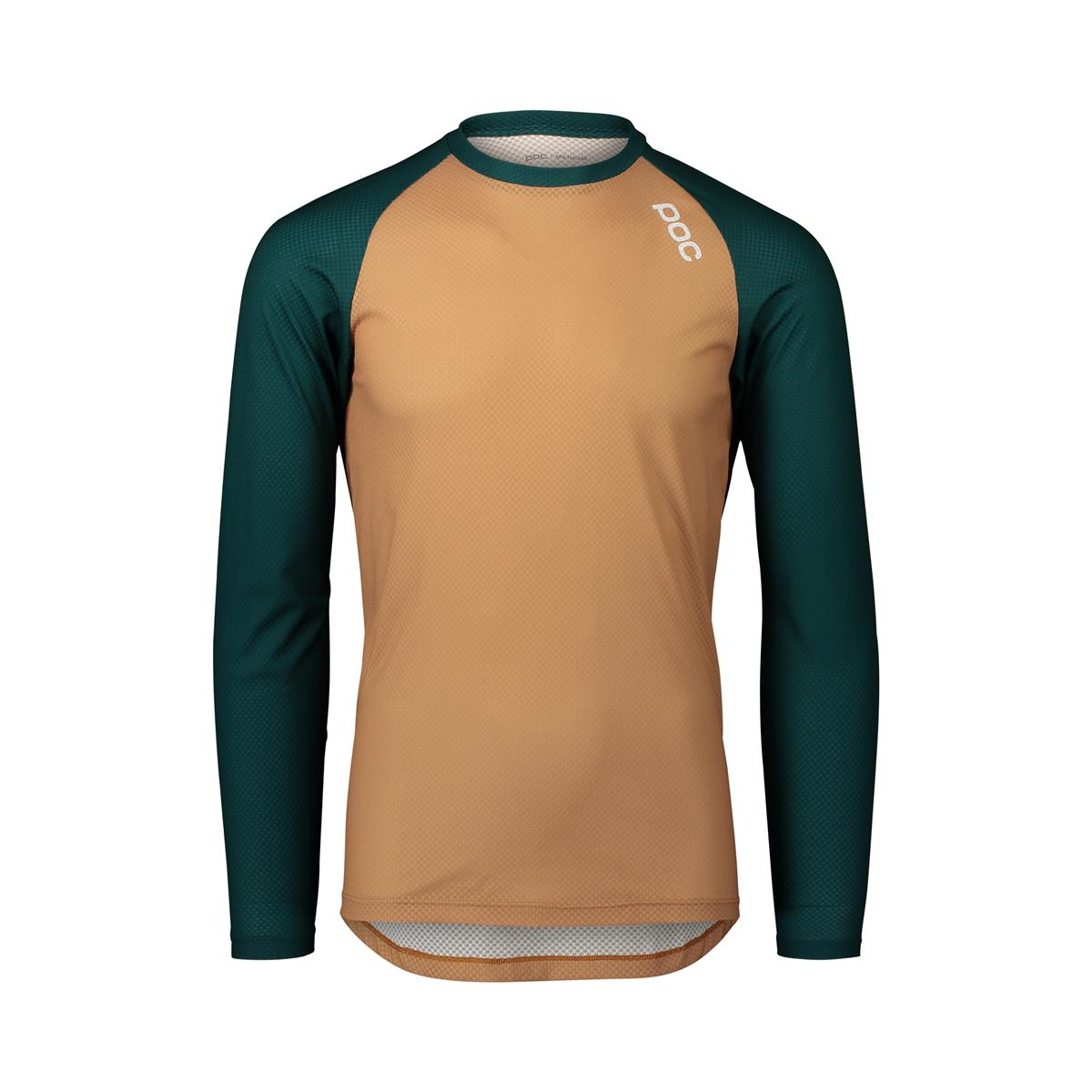 MTB Pure Long Sleeve Jersey Moldanite Green/Aragonite Brown Size XS