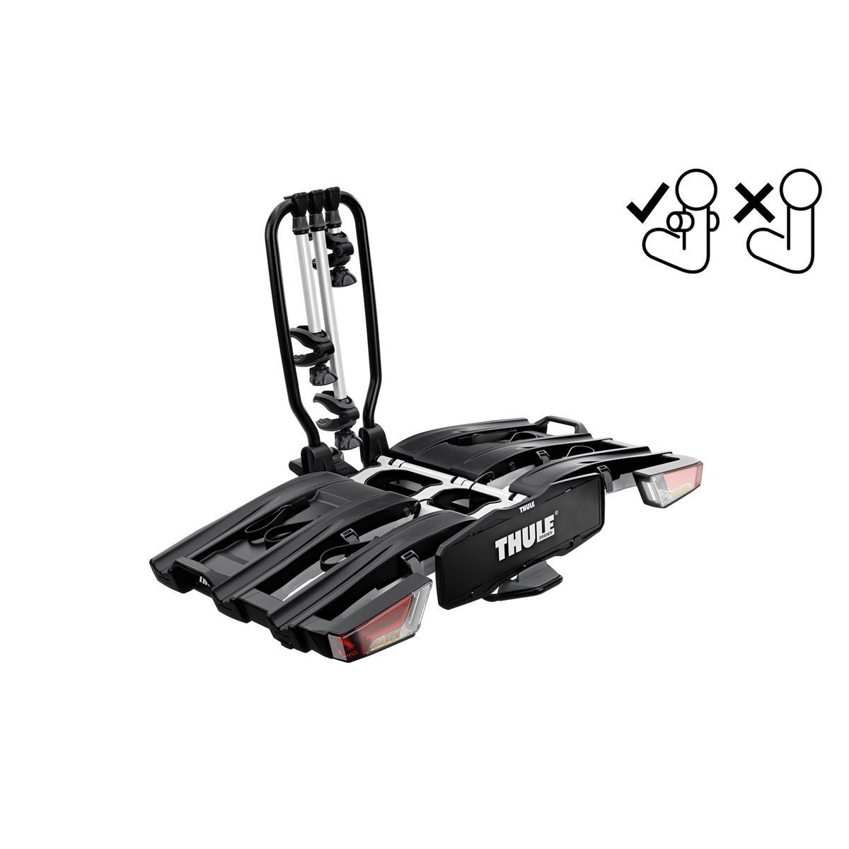 Portabici Posteriore per Gancio Traino EasyFold XT 966 Fix4Bike per Tre Biciclette