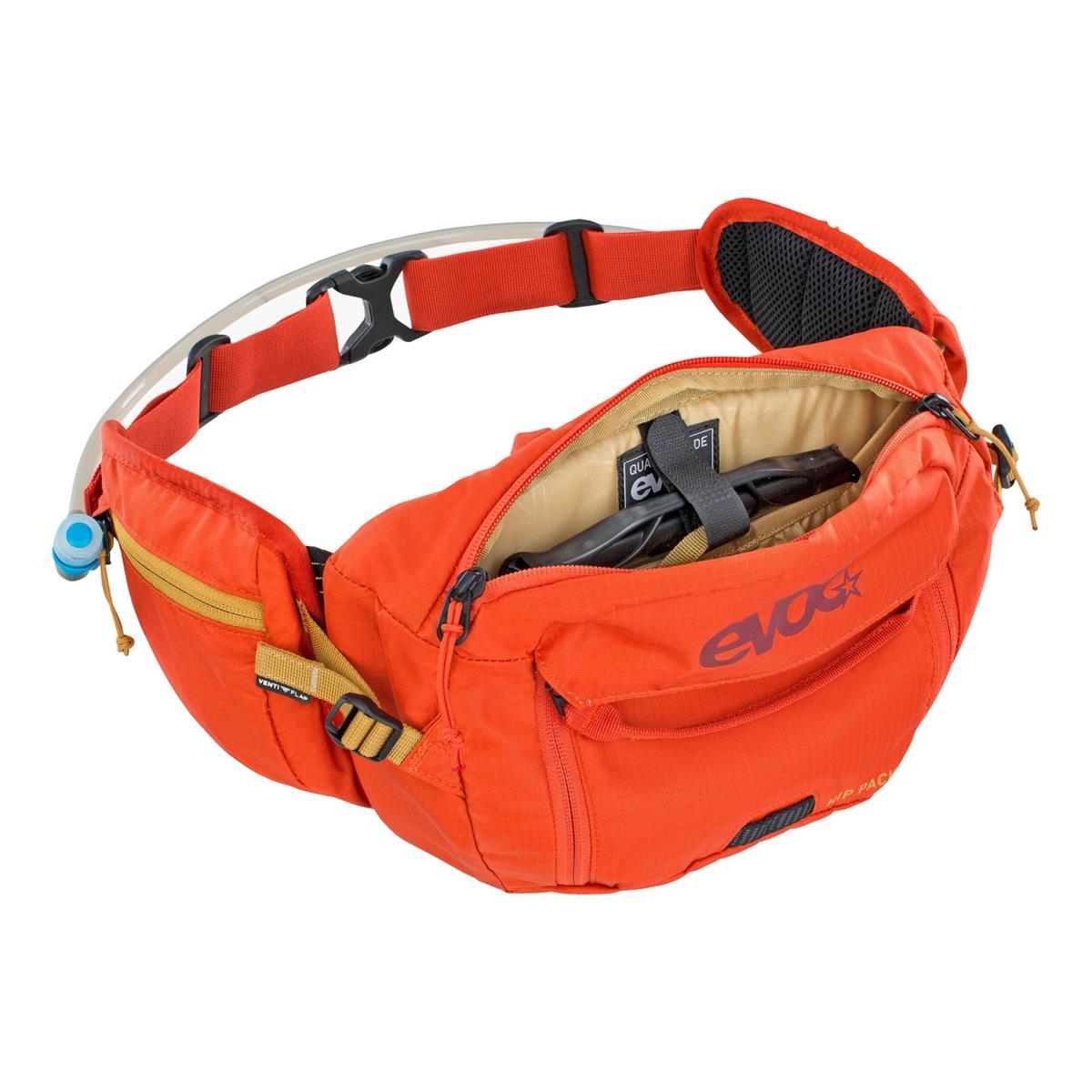 Marsupio Hip Pack 3L + Sacca Idrica 1,5L Arancione