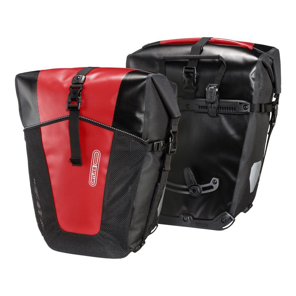 Coppia Borse Posteriori per Portapacchi Back-Roller Pro Classic 35L + 35L Nero/Rosso