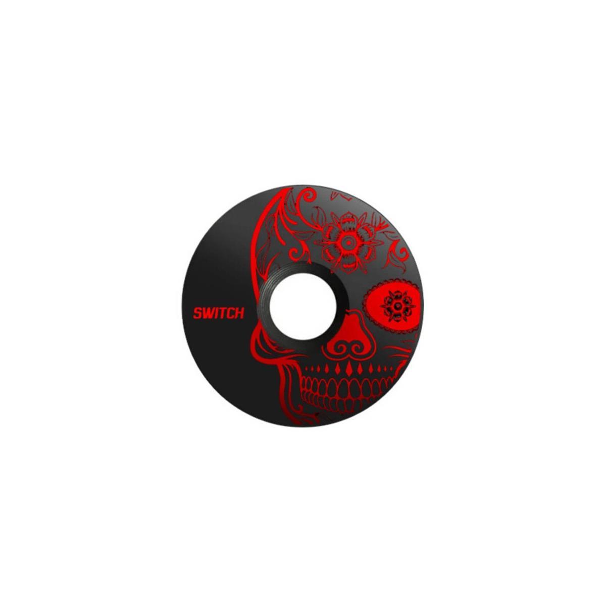 Alloy Top Cap Skull Black/Red