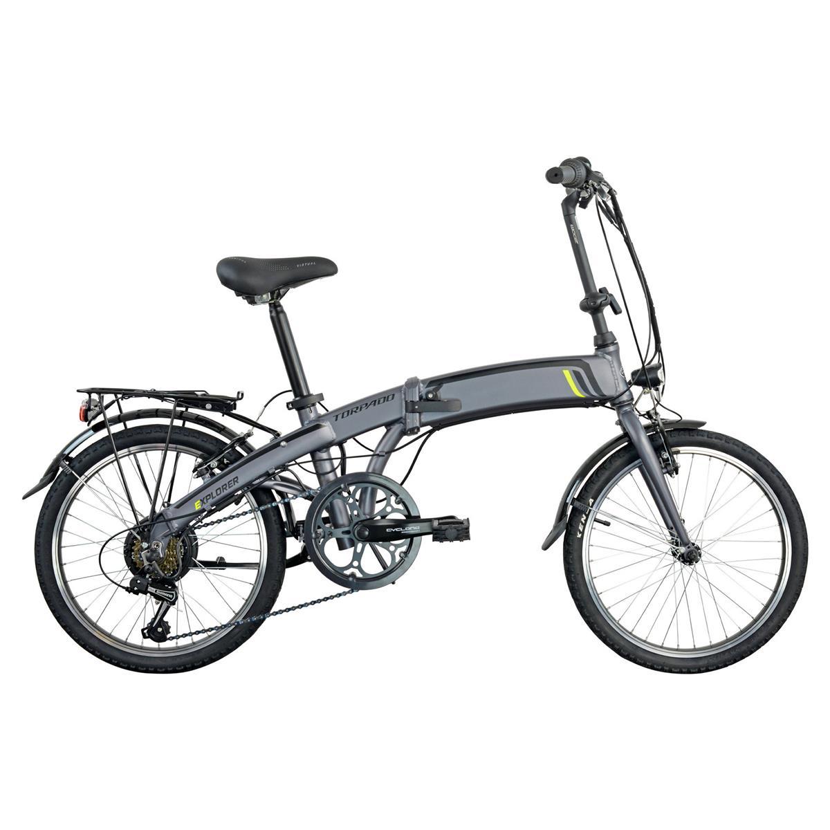 Bici Elettrica Pieghevole T350 Explorer 20'' 6v 374Wh Bafang Nero 2021