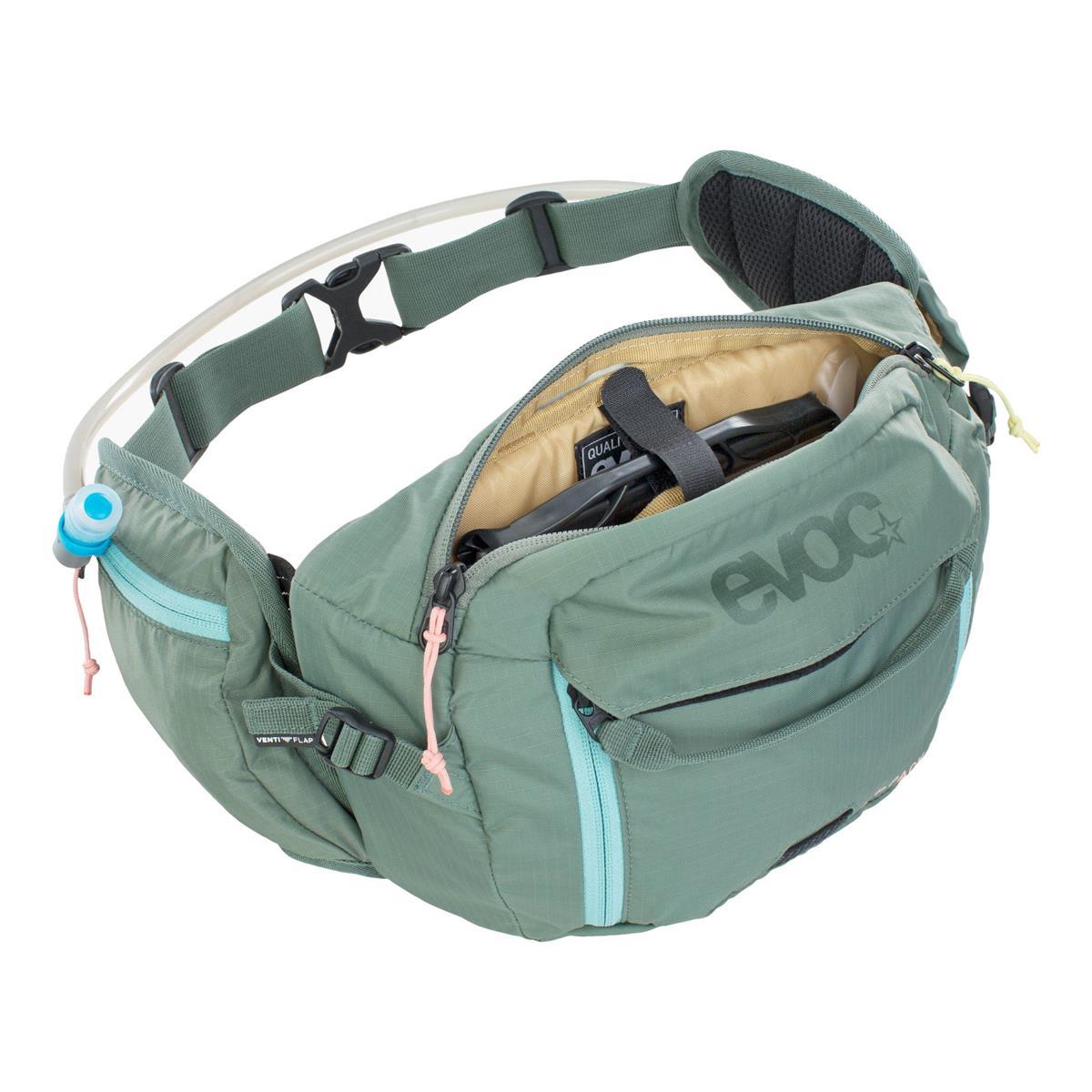 Wais Bag Hip Pack 3L + 1,5L Hydration Bladder Green
