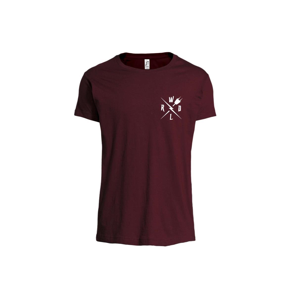 T-Shirt Crew Oxblood Size S