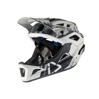 casco enduro mtb 3.0 nero/bianco taglia s (51-55cm) bianco / nero