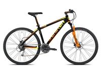 mtb t780 chiron 27,5'' disco 3x7v nero/arancione taglia 38 nero
