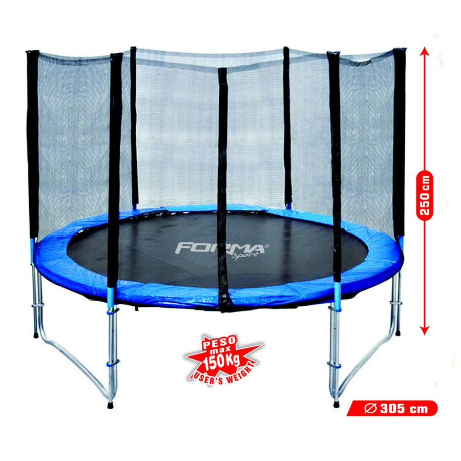 tappeto elastico Fitness con rete di protezione diametro 305cm